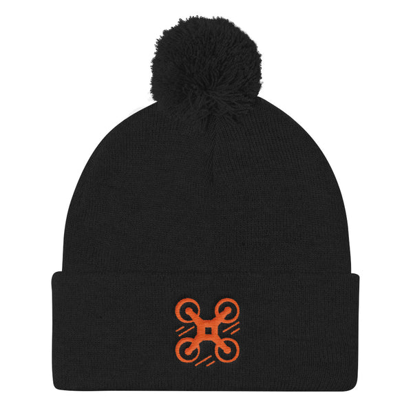 TMD Pilot Pom Pom Blend Knit Cap - TagMyDrone - FAA Registration Sticker, FAA Registration Label, FAA Decal, N number