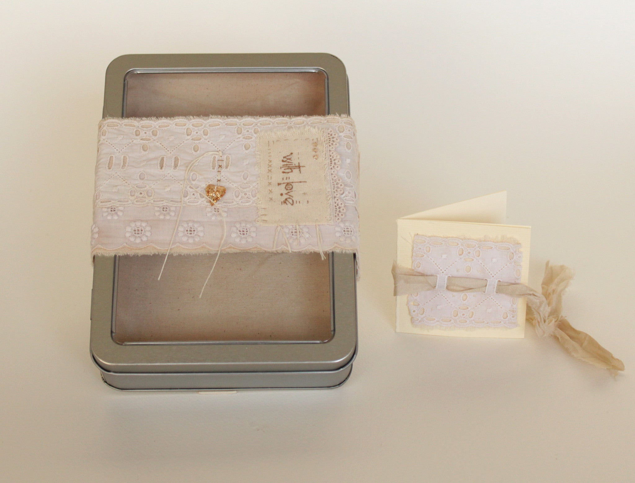 With Love-- OOAK romantic tin box gift set -- LOVE IN A BOX
