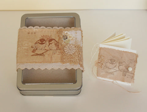 OOAK tin box gift set -- Love Birds -- LOVE IN A BOX
