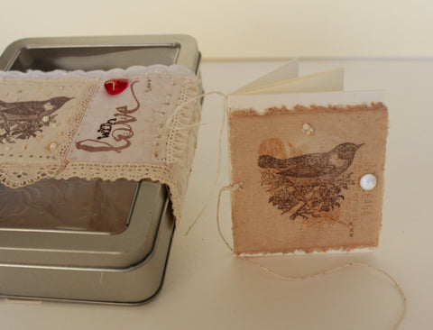 OOAK tin box gift set -- With Love -- LOVE IN A BOX