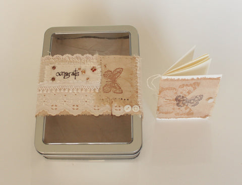 Congrats, Congratulations -- OOAK tin box gift set -- LOVE IN A BOX