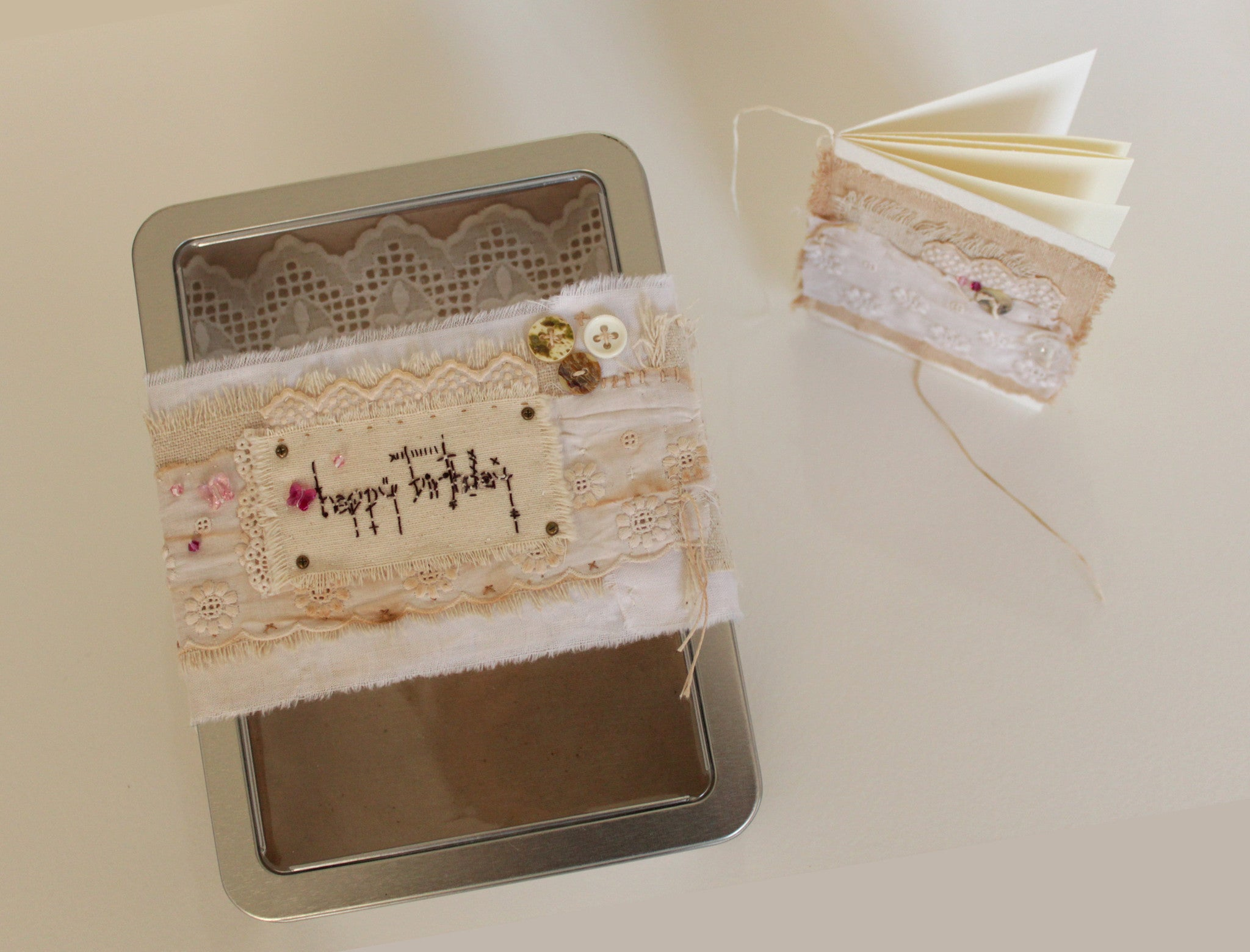 Happy Birthday-- OOAK tin box gift set -- LOVE IN A BOX