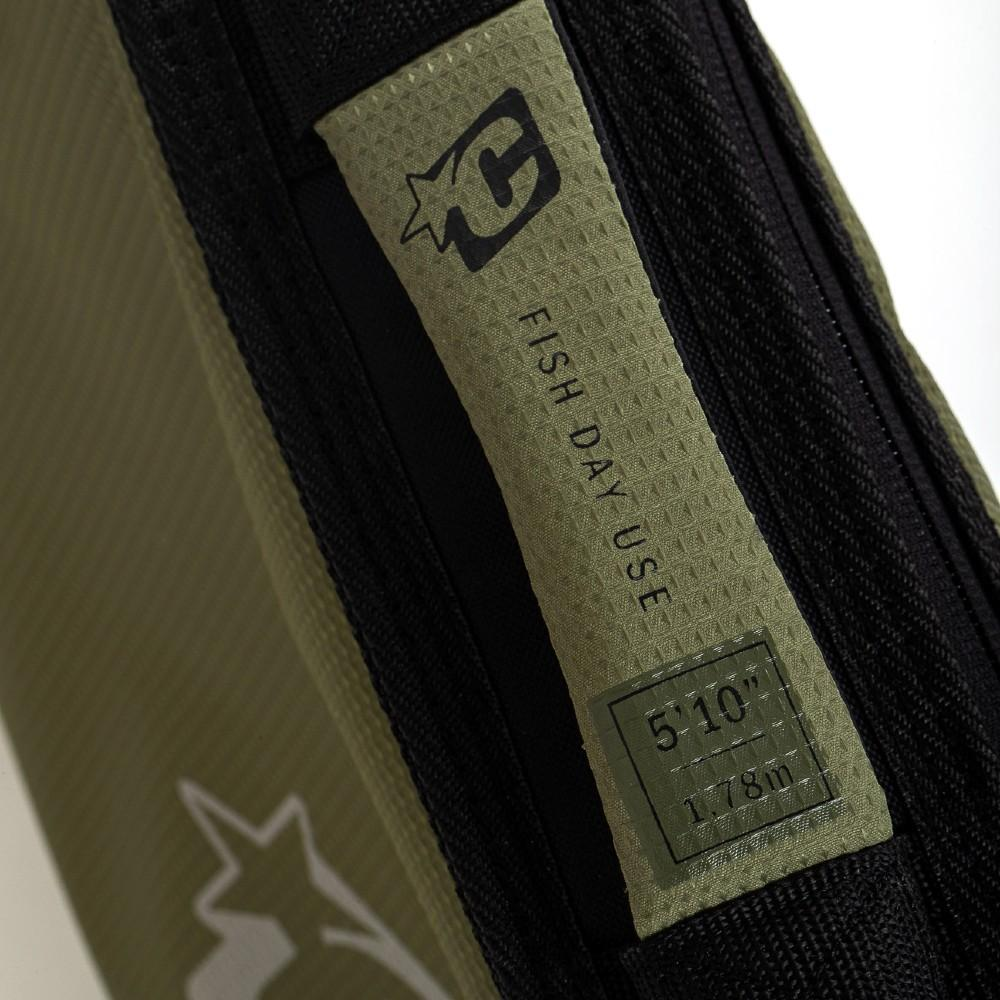 Creatures Of Leisure Fish Day Use DT2.0 Boardcover Military Black Boardbags Creatures Of Leisure