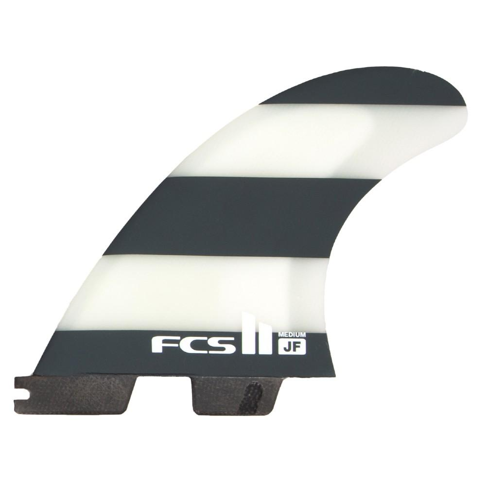 FCS II JF PC Large Black/White Tri Fins Fins FCS