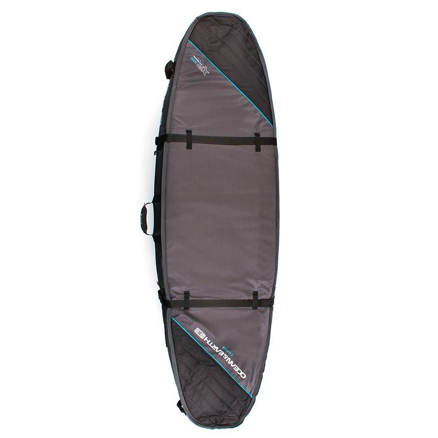 Ocean & Earth Double Coffin Short/Fish Cover Boardbags Ocean & Earth Black/Blue 6'6""