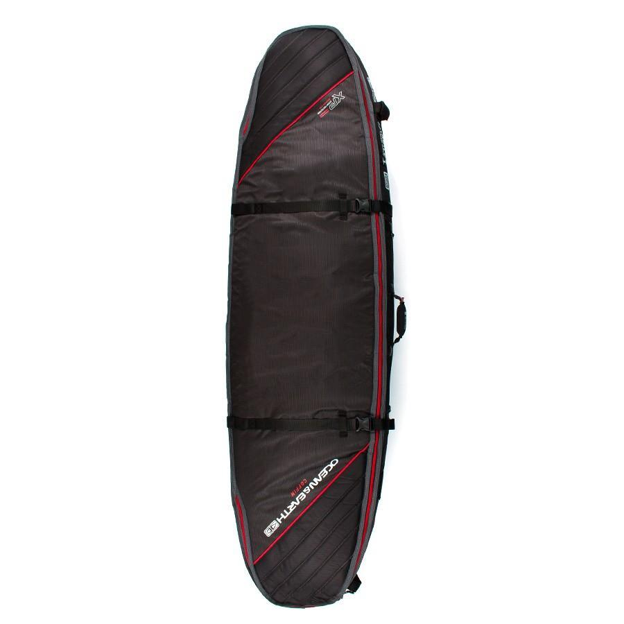 Ocean & Earth Double Coffin Short/Fish Cover Boardbags Ocean & Earth Black/Red 6'0""
