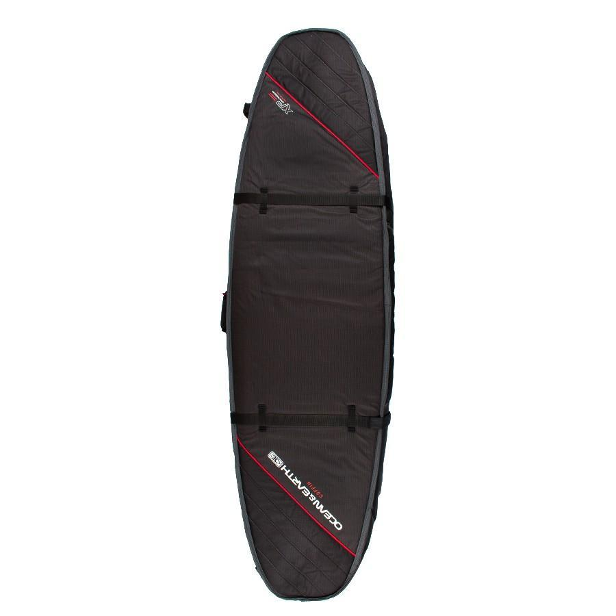 Ocean & Earth Double Coffin Short/Fish Cover Boardbags Ocean & Earth Black/Red 7'6""