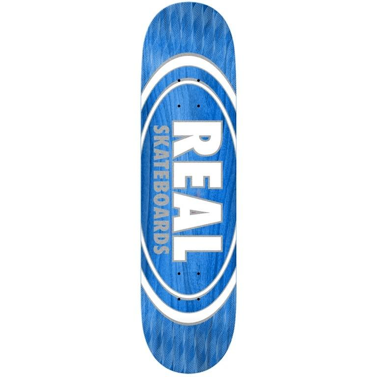 Real Skateboards Oval Pearl 8.5 Blue Skateboard Hardware Real Skateboards