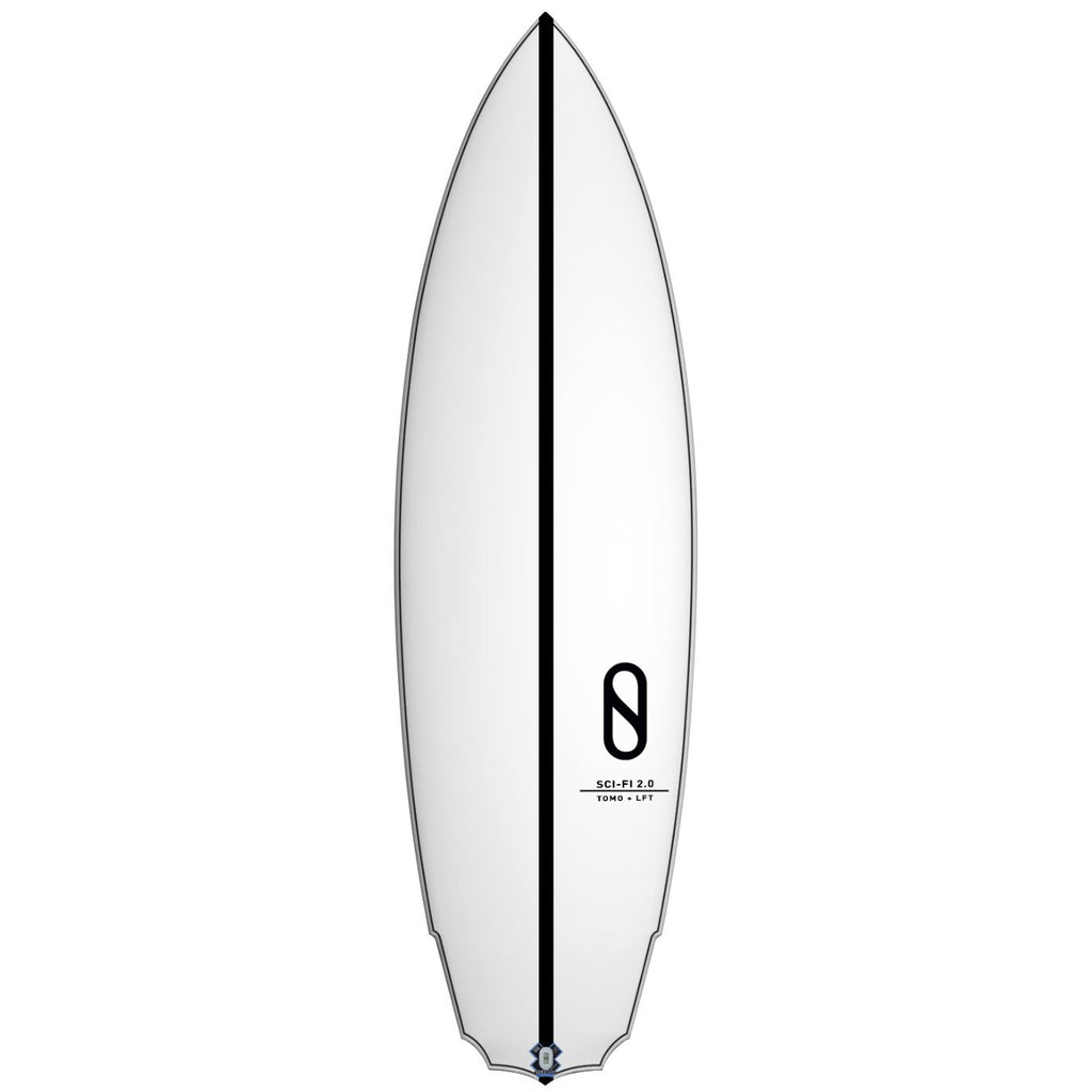 "Slater Designs Sci-Fi 2.0 LFT Surfboards Slater Designs 5'5"" x 18 3/8"" x 2 1/4"" 24.9L Futures"