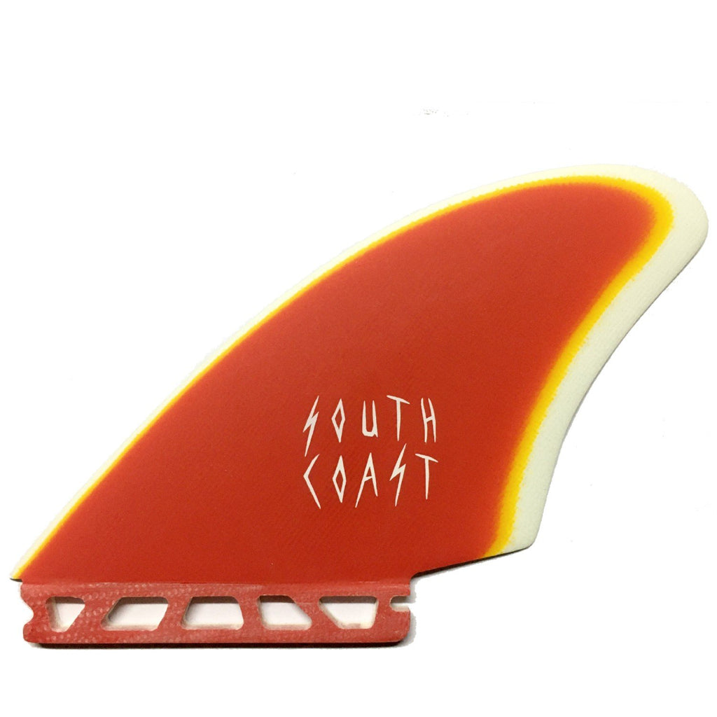 South Coast Trad Keel Surfboard Fins South Coast Red/Orange/White
