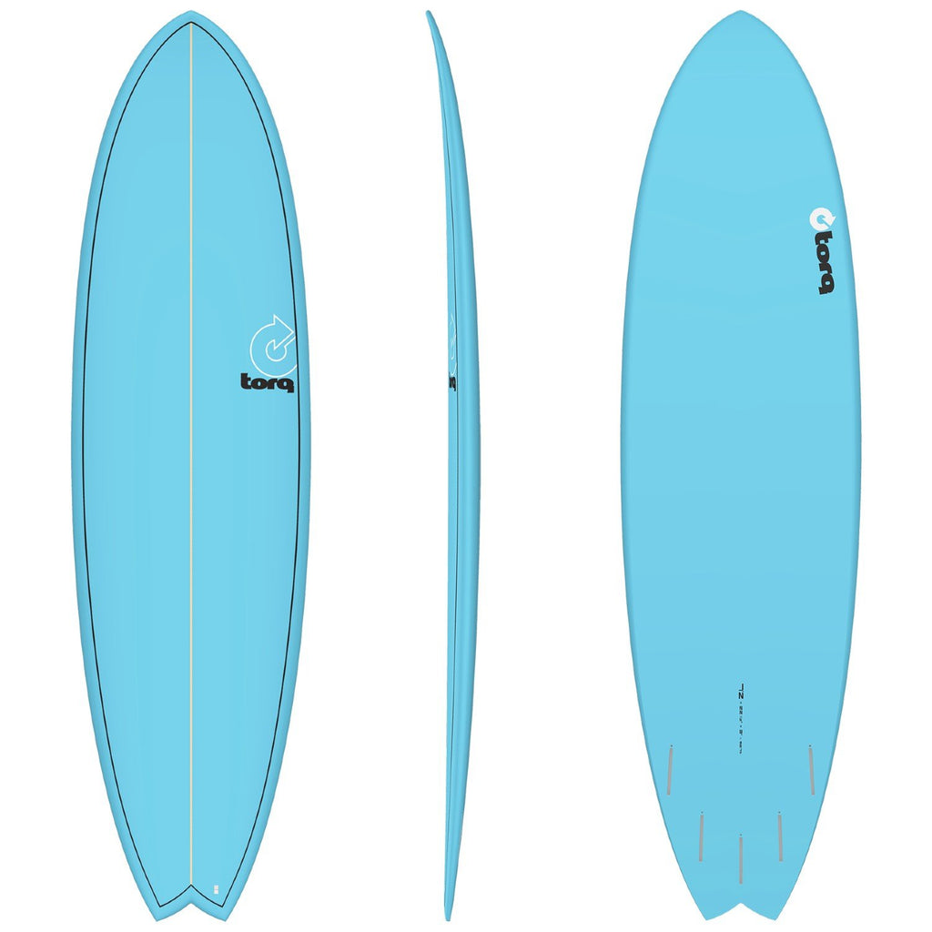 Torq Mod Fish 7'2 Surfboards Torq Blue + Pinline
