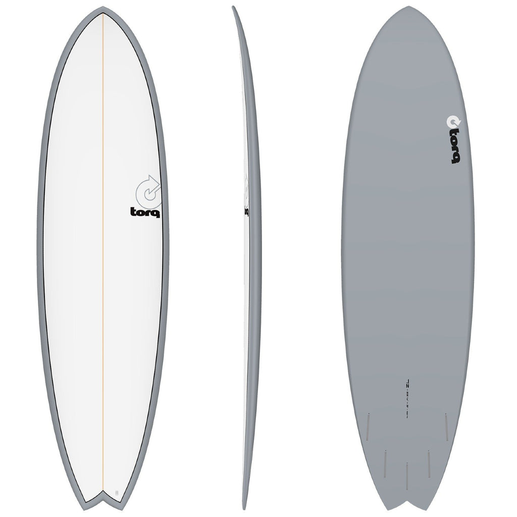 Torq Mod Fish 7'2 Surfboards Torq Gray + Pinline