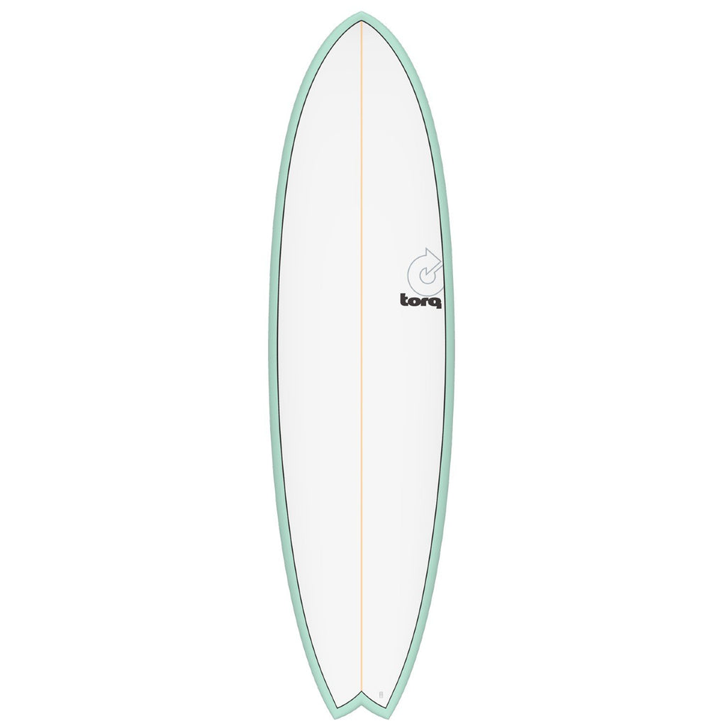 Torq Mod Fish 7'2 Surfboards Torq Sea Green + Pinline