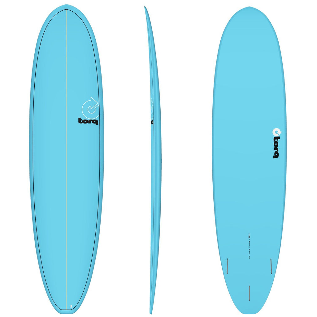 Torq Mod Fun V+ 7'8 Surfboards Torq Blue + Pinline