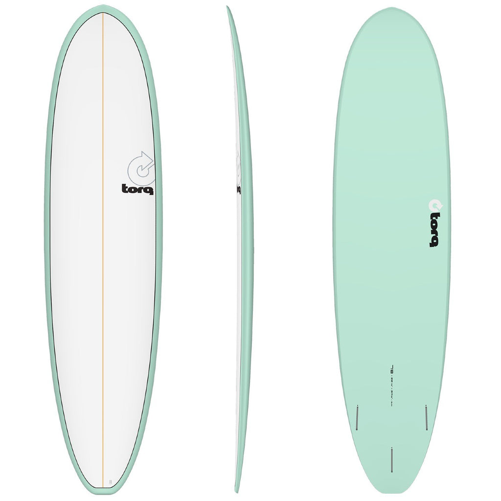 Torq Mod Fun V+ 7'8 Surfboards Torq Sea Green + Pinline