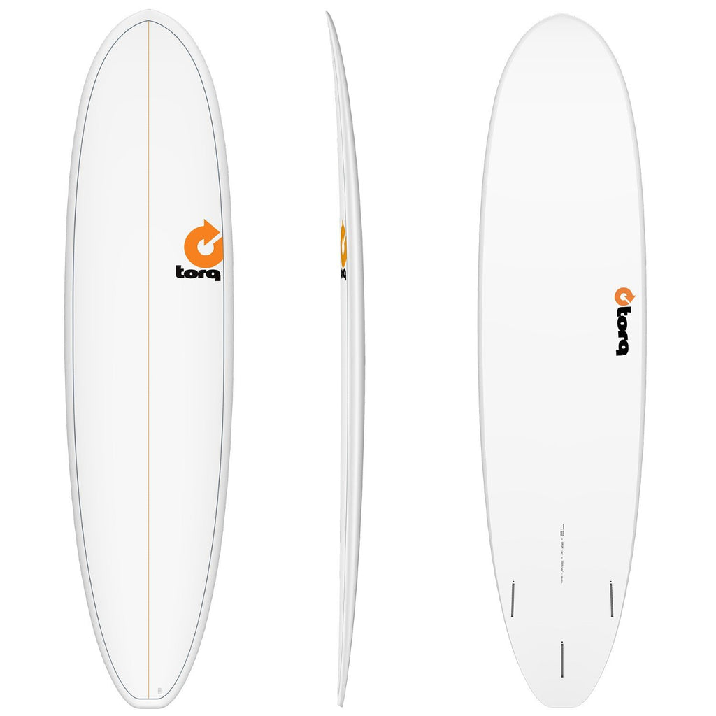 Torq Mod Fun V+ 7'8 Surfboards Torq White + Pinline