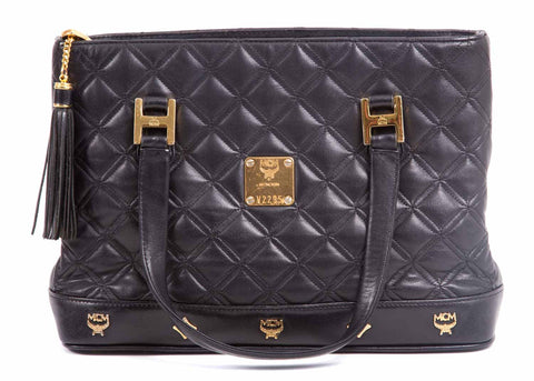 Kleiner Shopper Leder Quilted