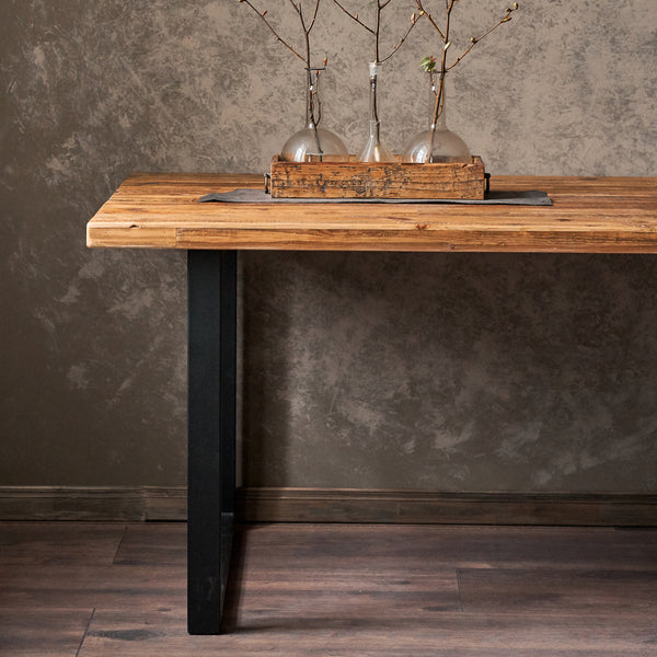 Reclaimed Wood Dining Table U Legs