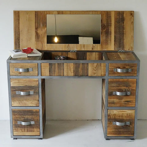 barn wood dressing table reclaimed wood dressing table