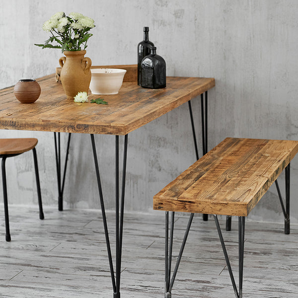 Hairpin leg table reclaimed wood table barn wood table
