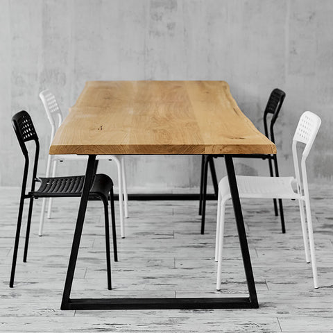 industrial dining table conference table oak dining table