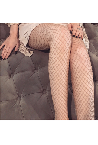 Nude Fishnet Stocking