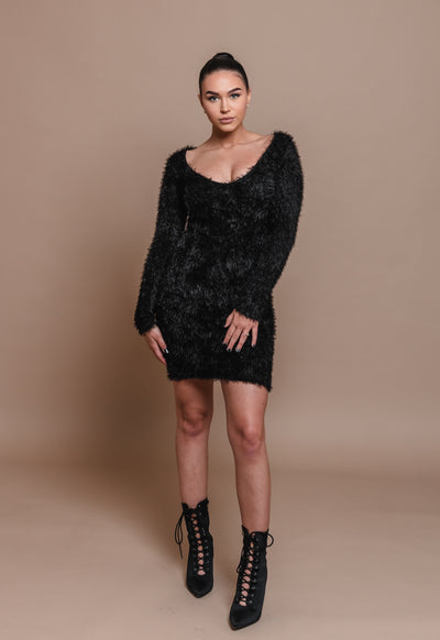 KELLY FUZZY DRESS