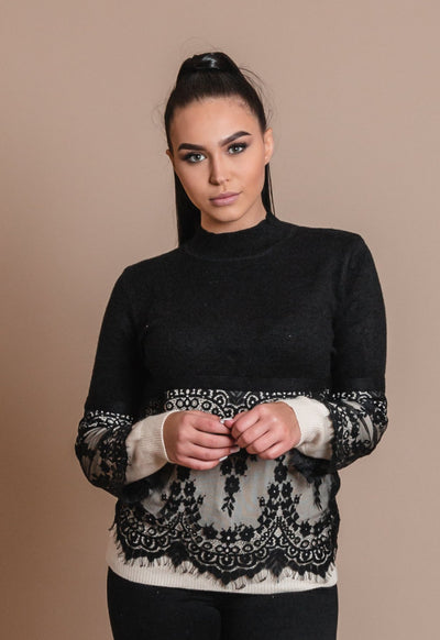 RUBY KNIT LACE TOP
