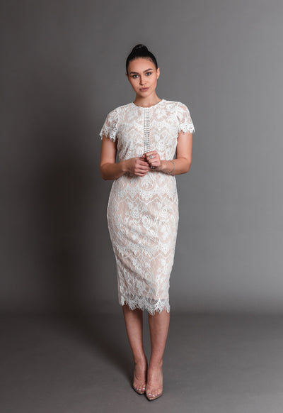 VALERIE LACE DRESS-WHITE