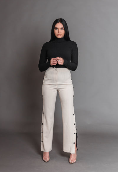 CAROLINE SLIT TROUSERS