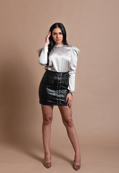 KATE LEATHER SKIRT