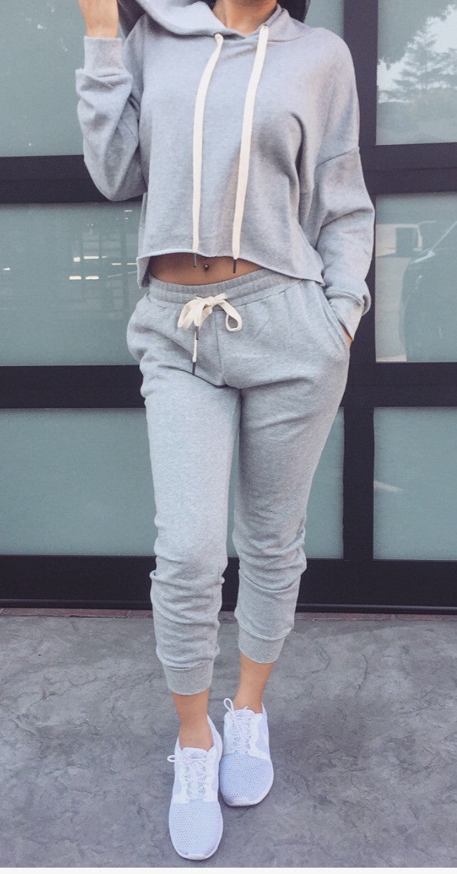 Melissa Sweat Pants-Grey