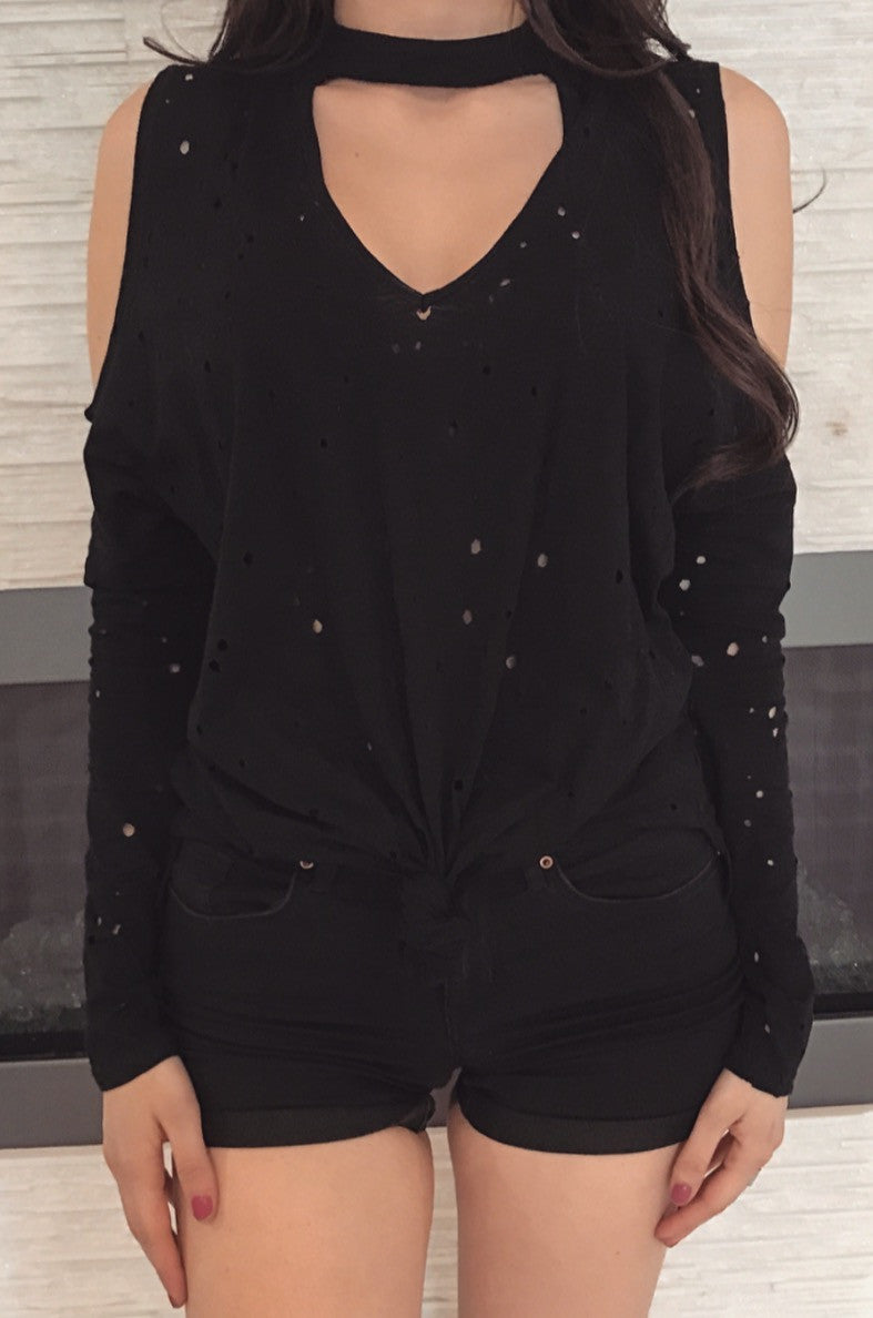Elaina Knot Top - Black