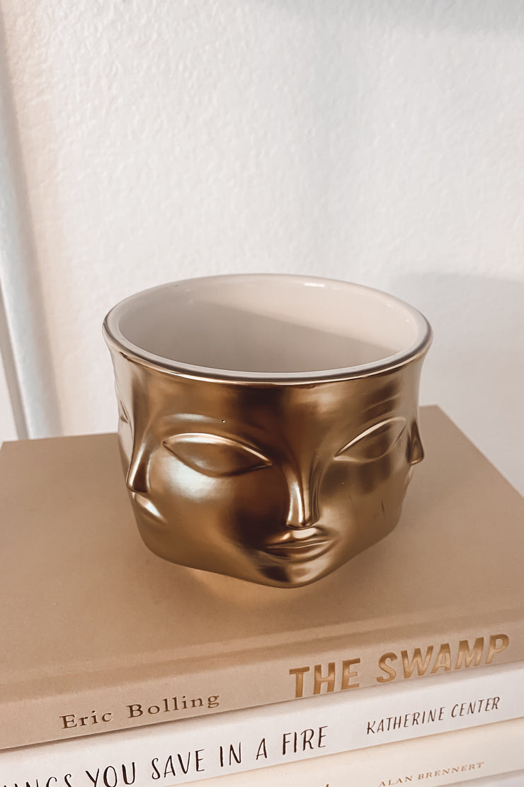 Gold Face Bowl