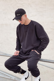 Grà·Zie Unisex Collection - Black Crewneck