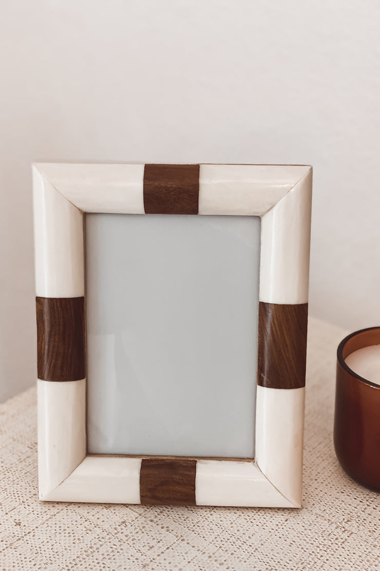 White + Wood Frame