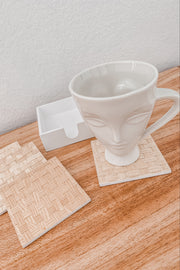 Square + Round Wooden Coasters Set