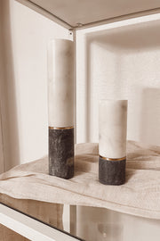 Short + Tall Marble Candle Holder