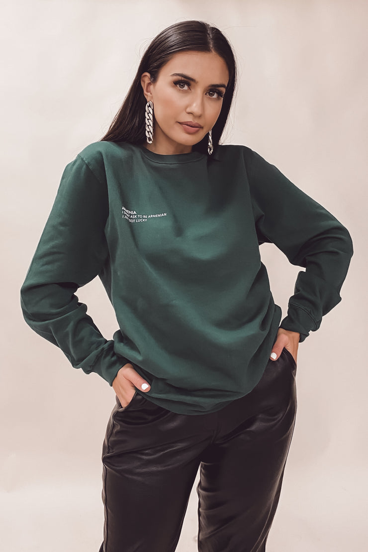 Armenia Collection Sweater - Forest Green