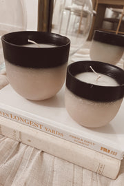 Black Trim Wax Candle