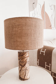 Marble + Canvas Lamp