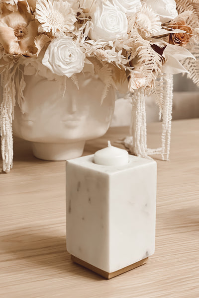 Square Marble Candle Holder