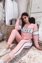'VOGUE' SWEAT SET - PINK