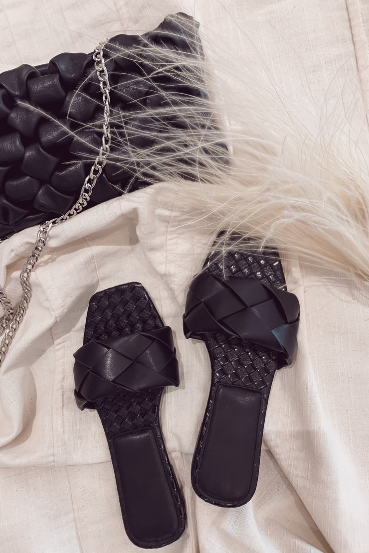 Holly Woven Sandals - Black