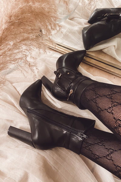 Sasha Leather Booties