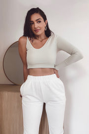 Tyra Crop Top - Ivory