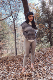 Mona Leather Leggings - Grey
