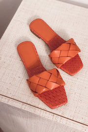 Holly Woven Sandals - Orange