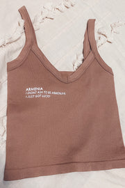 Red.Blue.Apricot Collection Crop Top - Mauve