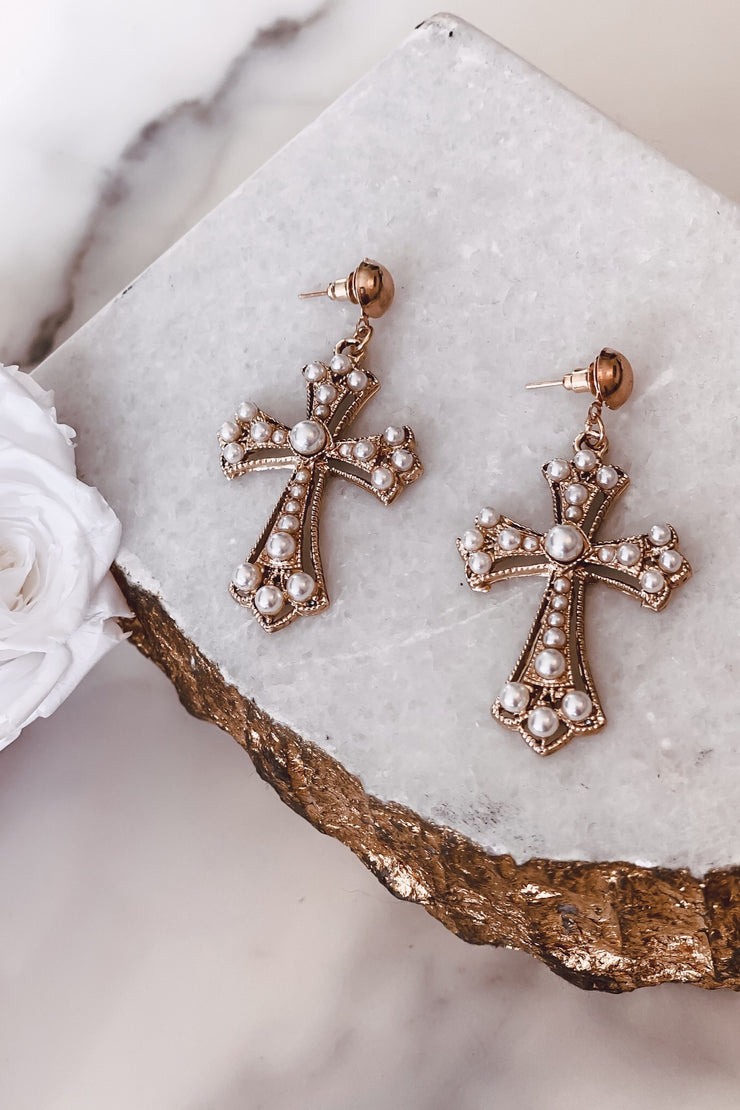TESSA CROSS EARRINGS